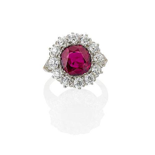 IMPORTANT TIFFANY & CO. RUBY & DIAMOND RING