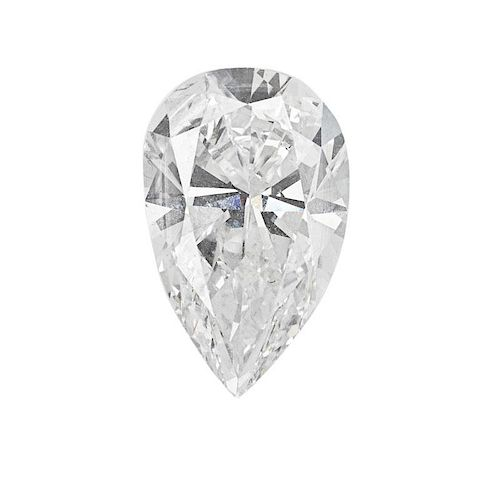 7.70 CTS UNMOUNTED PEAR SHAPED DIAMOND