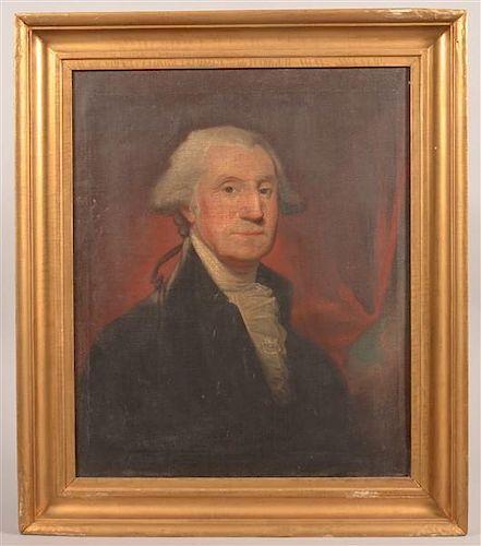 Jacob Eichholtz Oil Portrait of George Washington.