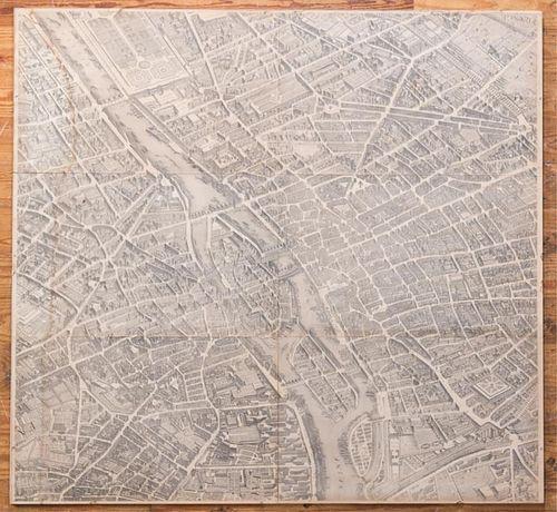 Louis Bretez Paris 1739 Map Reproduction