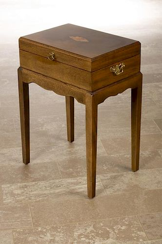Inlaid Top Box on Stand