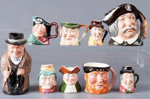 Doulton & Staffordshire Toby Mugs Collection