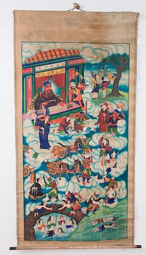 Chinese Provincial Scroll Painting, Circa 1900