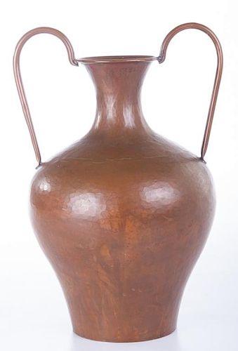 Hammered Copper Urn