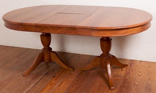 Bench Crafted Oval Dining Table By Alishaan