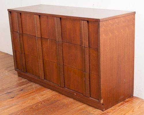 Tavern Walnut Laminate Double Dresser