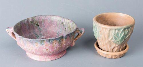 McCoy & Roseville American Art Pottery Duo