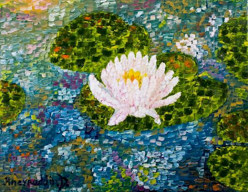 Kheyradolin Dzhaffarov Water Lily Still Life