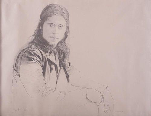 Tim O'Kane Portrait Lithograph