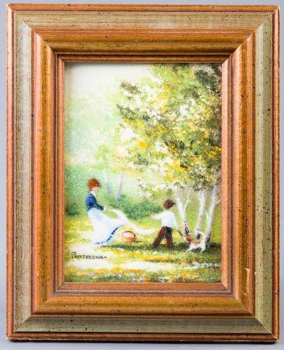 Charles Parthesius Enameled Painting