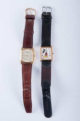 Mickey Mouse Lorus & Seiko Watches Pair