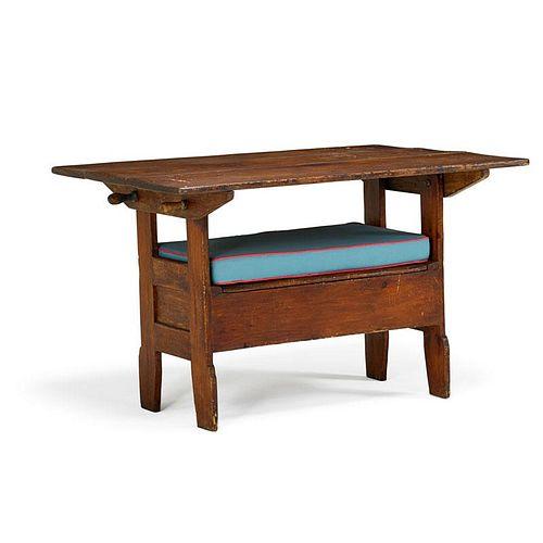 AMERICAN PINE HUTCH TABLE
