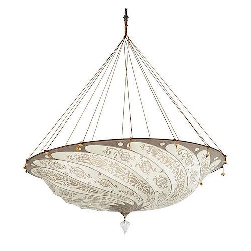FORTUNY SILK SCUDO SARACENO SUSPENDED LAMP
