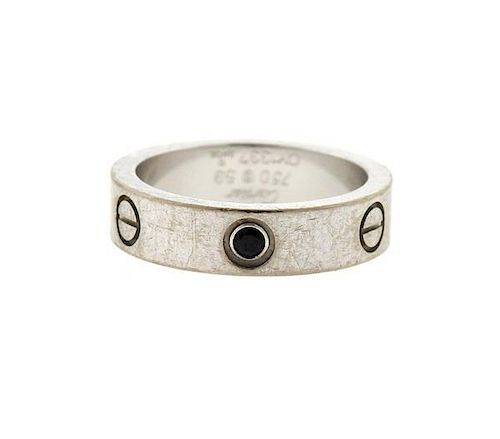 Cartier Love 18k Gold Black Diamond Wedding Band Ring