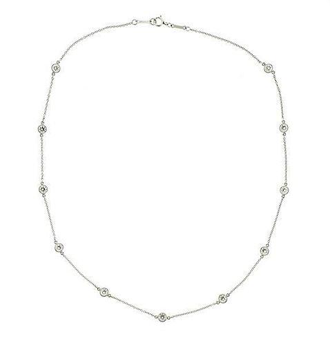 Tiffany & Co Peretti Diamonds by the Yard Platinum Necklace