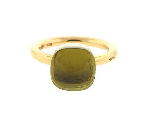 Pomellato Nudo 18K Gold Lemon Quartz Ring