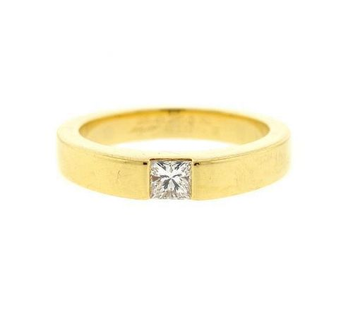 Cartier Tank 18K Gold Diamond Band Ring