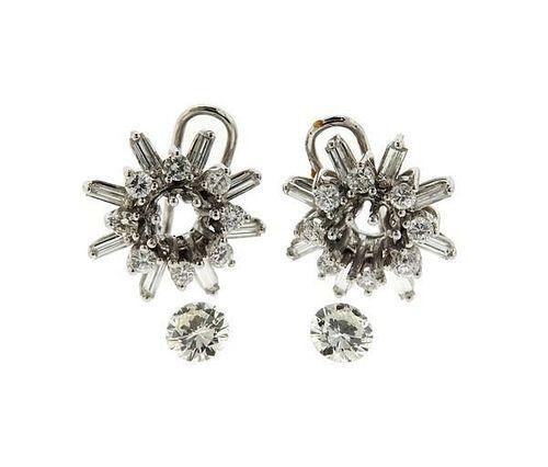 GIA 18k Gold 1.35ctw Diamond Earrings