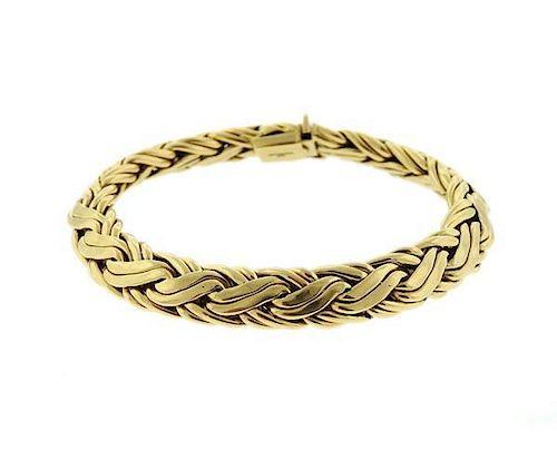 37bafb6a2 1990 s Tiffany & Co 14K Gold Russian Braid Woven Bracelet by ...