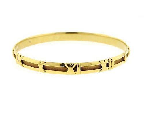 Tiffany & Co Atlas 18K Gold Bangle Bracelet