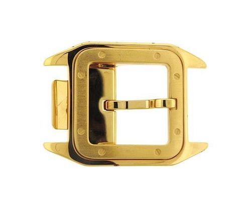 Cartier Santos Gold Tone Belt Buckle