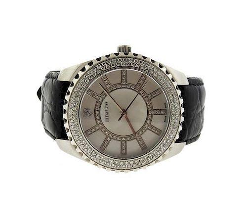 Hidalgo Steel Diamond Mother of Pearl Watch