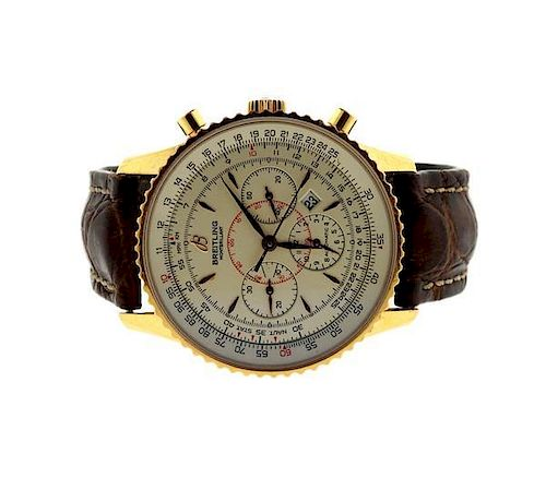 Breitling Montbrilliant Limited 18k Gold Automatic Watch R41370