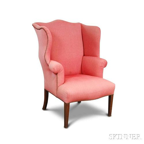 Federal Upholstered Mahogany Wing Chair
