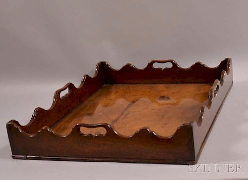 Georgian Carved Mahogany Tray