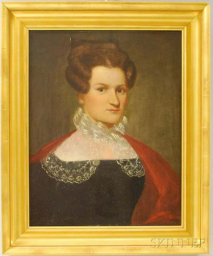 American School, 19th Century       Portrait of Jerusha Spencer, Hartford, Connecticut.