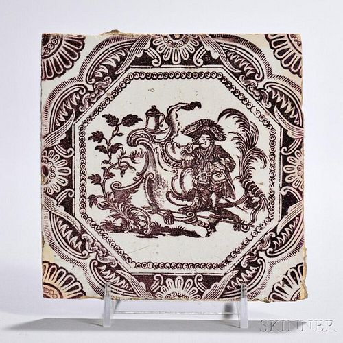 Tin-glazed Earthenware Soldier   Tile
