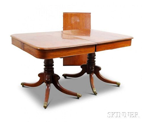 Federal Mahogany Double-pedestal Dining Table