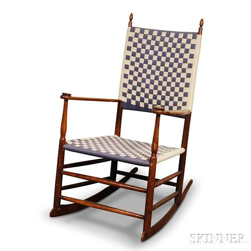 Shaker Turned Maple Rocking Chair with Tape-woven Seat