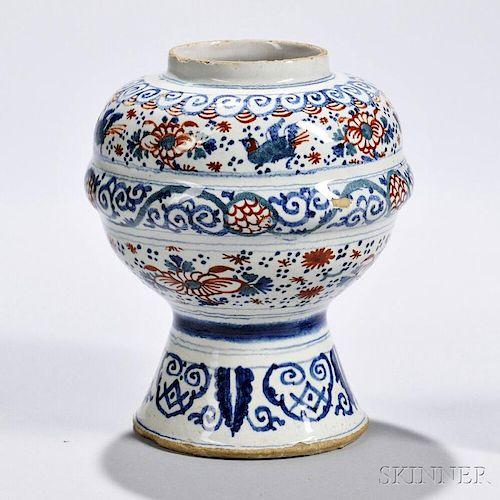 Tin-glazed Earthenware Chimney Vase