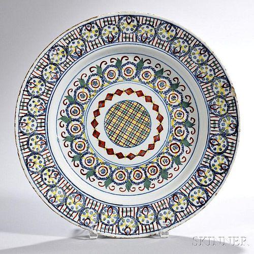 Tin-glazed Earthenware Tartan   Dish