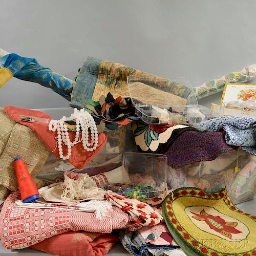Extensive Group of Assorted Fabrics and Fragments.