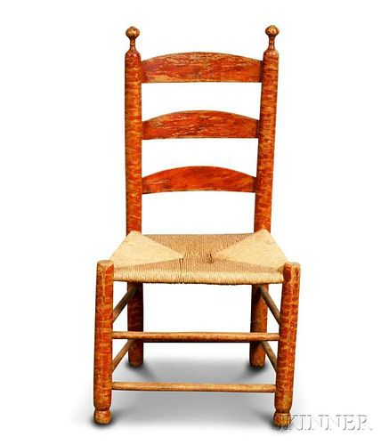 Grain-painted Ladder-back Side Chair