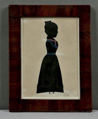 Full-length Hollow-cut Silhouette of Lady