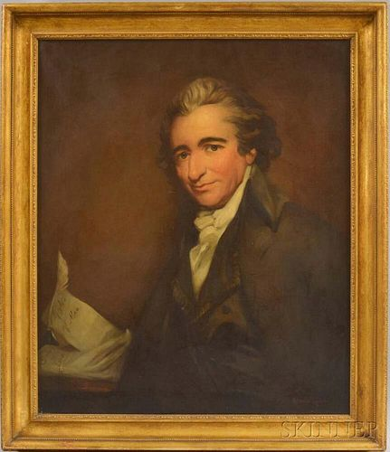 Adrian Stymets Lamb (American, (1901-1988)      Portrait of Thomas Paine