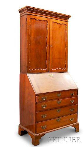Chippendale Cherry Desk/Bookcase