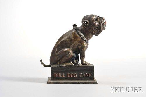 """J. & E. Stevens """"Bull Dog"""" Mechanical Bank"""