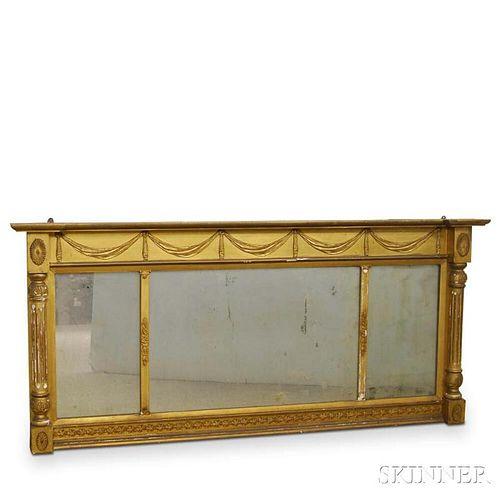 Federal Gilt Overmantel Mirror