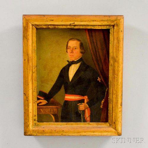 Framed Oil on Canvas of Eugene Lamoral, Prince of Ligne