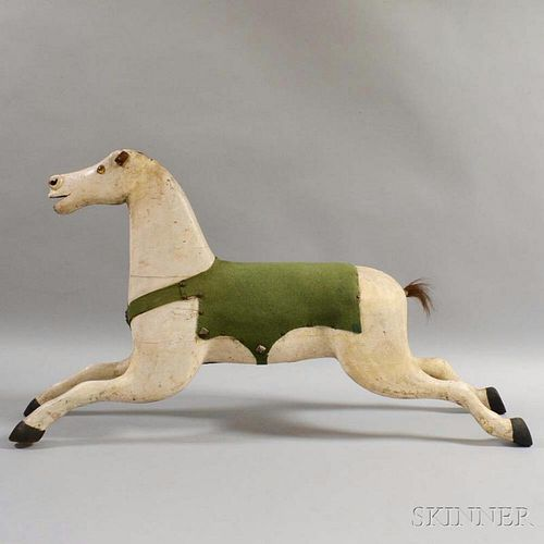 Carved and Painted Horse Figure