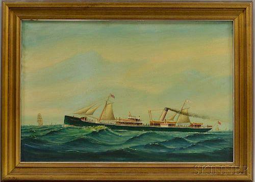 American School, 19th Century       Ship Portrait of the Montebello.