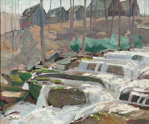 Donald Blagge Barton (American, 1903-1990)      Cascading Stream