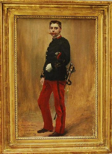 French School, 19th Century       Portrait of a Soldier.