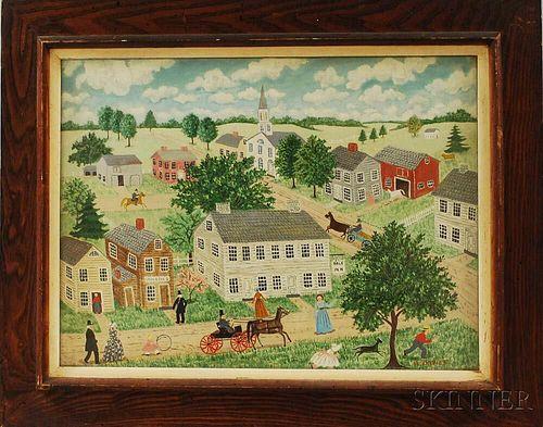Albert Davies (New Hampshire, 1889-1967)       In North Salem, N.H.