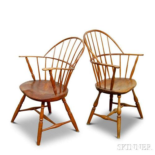 Two Sack-back Windsor Chairs