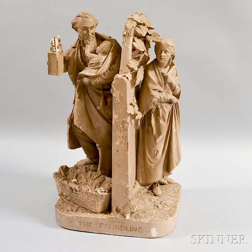 Rogers Group The Foundling   Plaster Sculpture